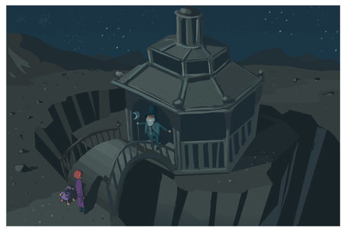 Meeting Mr. Moon, Illustration by Robert Herzig