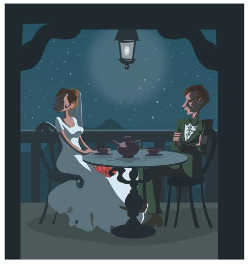 The Lovers' Tiff, Illustration by Robert Herzig