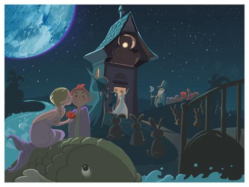 Moon Wedding, Illustration by Robert Herzig